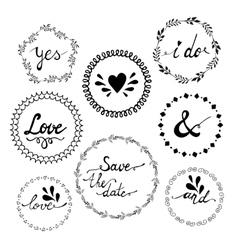 Set of wedding invitation vintage typographic vector image vector image