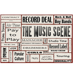 the music scene vector image vector image