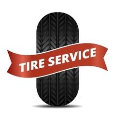 Tire service logo vector image vector image