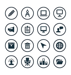 art design icons universal set vector image