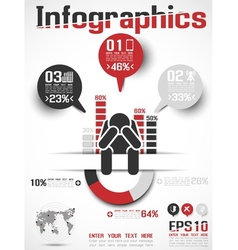 INFOGRAPHICS MODERN BUSINESS ICON MAN STYLE 4 vector image vector image