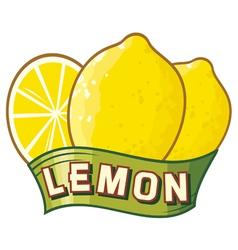 lemon label vector image vector image