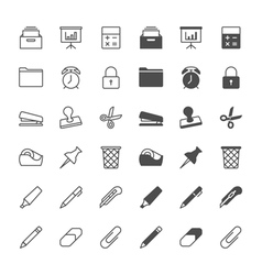 office supplies icons vector image vector image