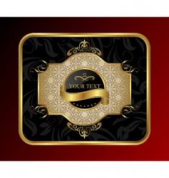 decorative gold frame vector image