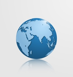 detailed globe with eurasia and africa vector image vector image