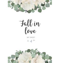 floral card design garden white creamy peony vector image vector image