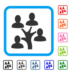 genealogy tree framed icon vector image