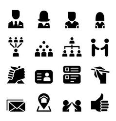 social media social network icon set vector image