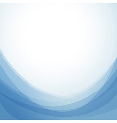 Blue abstract wavy background template vector image vector image