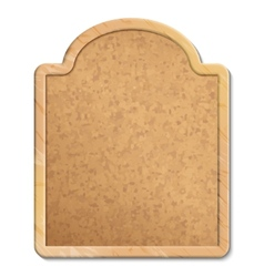 Cork Board with Wood Frame vector image