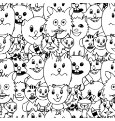 Cute cats colorful background vector image vector image