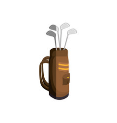 golf clubs bag isolated icon vector image