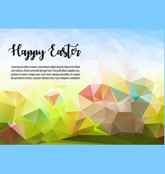happy easter abstract colorful polygon ilustration vector image