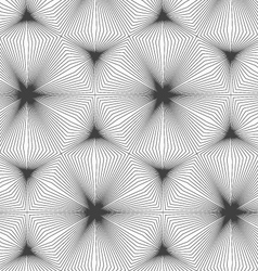 Slim gray continuously stripes hexagons vector image
