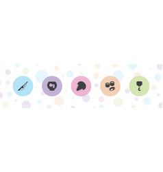 5 fish icons vector