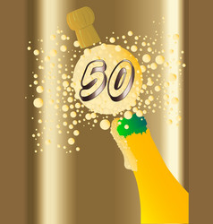 50 champagne vector image