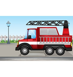A fire truck at the street vector