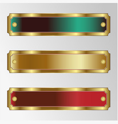 a set of rectangular frames of different colors vector image