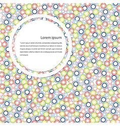 Abstract color circle background vector image