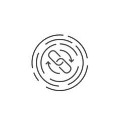 backlinks line icon vector image