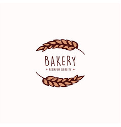 bakery and dessert shop logo sign template vector image