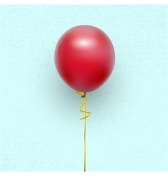 Balloon on a ribbon vector