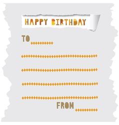 Birthday card6 vector image