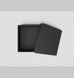 Black open empty squares cardboard box isolated on vector