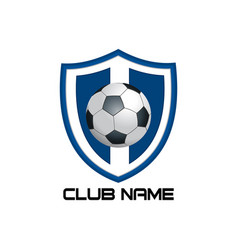 blue football emblem vector image