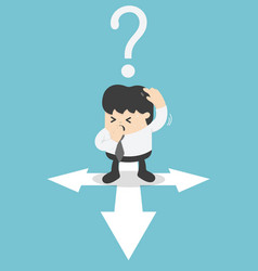 business men are confused in the direction vector image