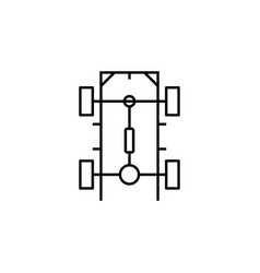 Chassis car icon can be used for web logo mobile vector