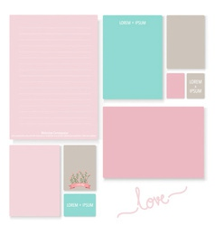 Collection of romantic paper design for Valentines vector image