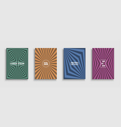 collection retro abstract templates vector image