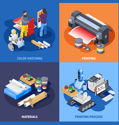 color printing design concept vector image
