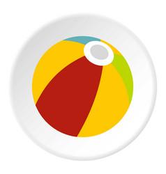 colorful ball icon circle vector image