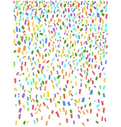 Confetti seamless background vector image