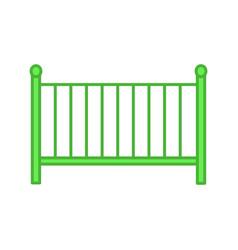 Crib color icon vector
