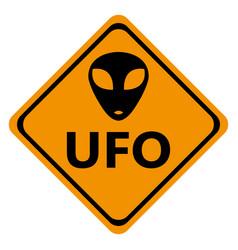 danger road signs ufo vector image