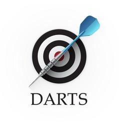 Darts game emblem vector