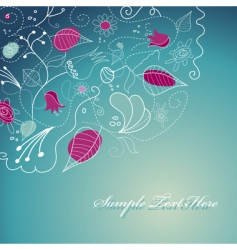 Flowery template vector