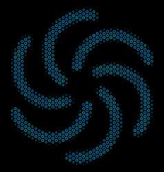 Galaxy collage icon of halftone bubbles vector