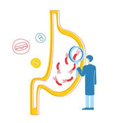 Gastroenterology health medicine and healthcare vector