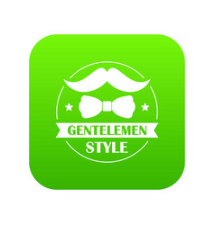 gentlemen style icon green vector image