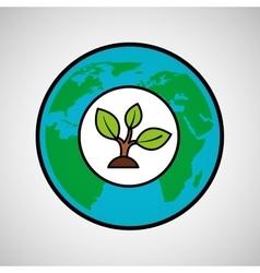 Global ecological concept design vector