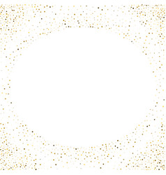 golden splash or glittering spangles round frame vector image