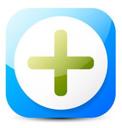 Green cross generic symbol emblem or emblem for vector