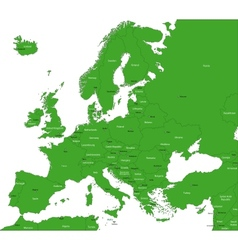 Green europe map vector