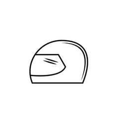 helmet icon element of racing for mobile concept vector image