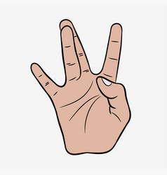 hip-hop hand gesture vector image