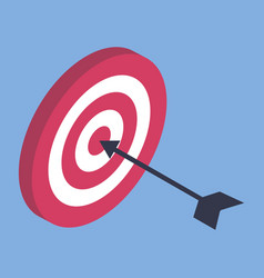 hitting dart target with arrow business success vector image